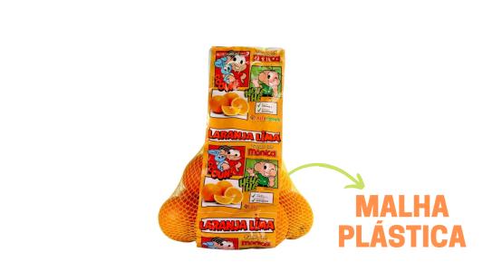 Imagem indicando a Malha Plástica com estampa da Turma da Mônica utilizada na produção